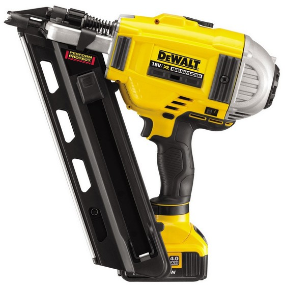 Image of Dewalt Dcn690m2 18v Xr Liion Brushless Framing Nailer With 2 X 4ah Liion Batteries