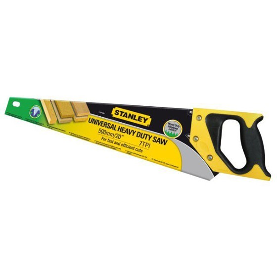 Image of STANLEY STA120090 HEAVY DUTY SHARPCUT HANDSAW 500MM 20 IN 7TPI