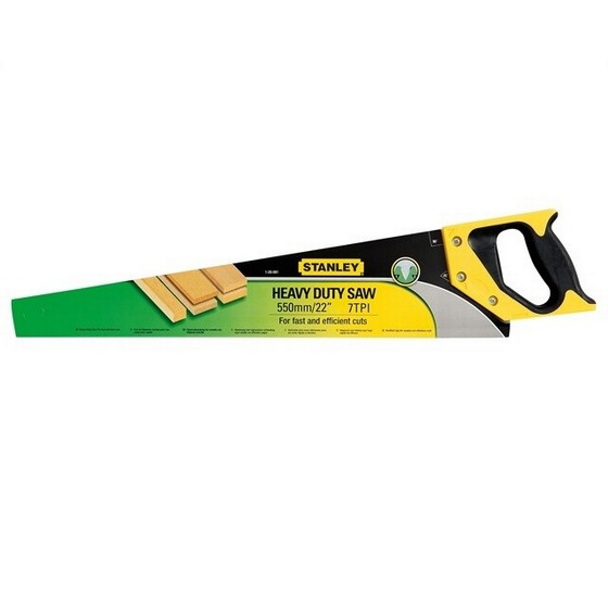 Image of STANLEY STA120091 HEAVY DUTY SHARPCUT HANDSAW 550MM 22 IN 8TPI