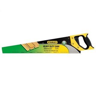 STANLEY STA120091 HEAVY DUTY SHARPCUT HANDSAW 550MM (22 IN) 8TPI