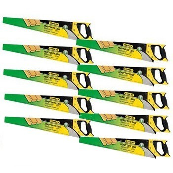 Image of STANLEY STA120091 HEAVY DUTY SHARPCUT HANDSAW 550MM 22 IN 8TPI PACK OF 10