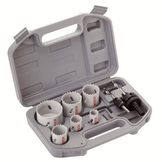 Image of Bosch 2608580803 9 Piece Plumbers Holesaw Kit