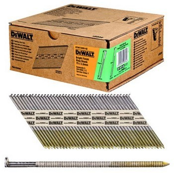 DEWALT DT99728RB-QZ BRIGHT RING SHANK 2.8X75MM NAILS (BOX 2200)
