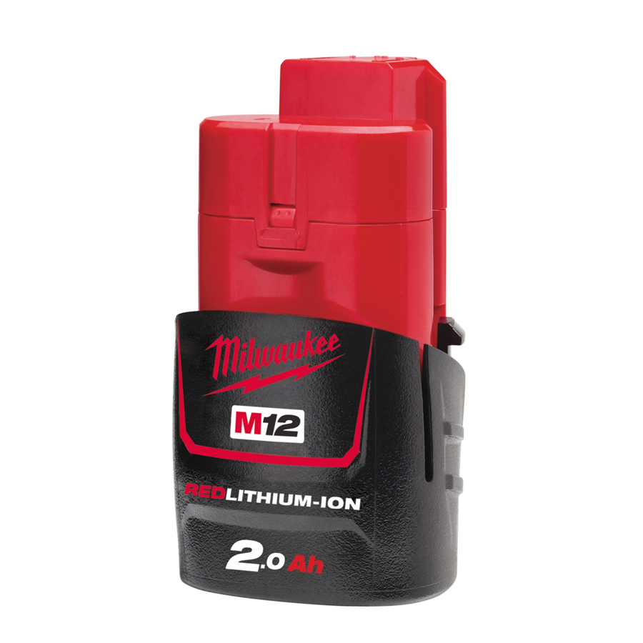 MILWAUKEE M12B2 12V 2.0AH RED LI-ION BATTERY PACK