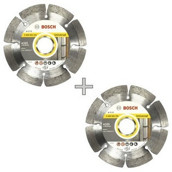 Bosch 061599749 Pack Of 2 Diamond Discs 115mm
