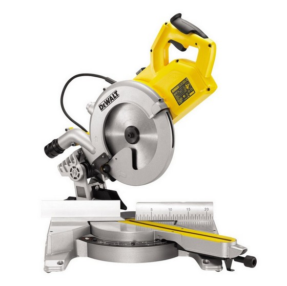Image of DEWALT DWS778 250MM SLIDING MITRE SAW 240V