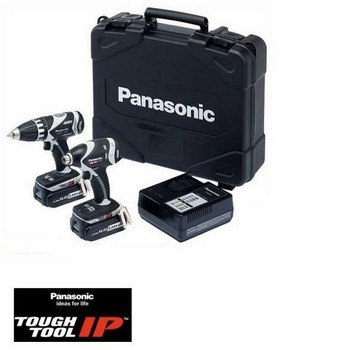 Panasonic EYC210LR2F31 14.4V DRILL DRIVER & IMPACT DRIVER TWIN PACK 2 x 3.3ah Li-ion Batteries
