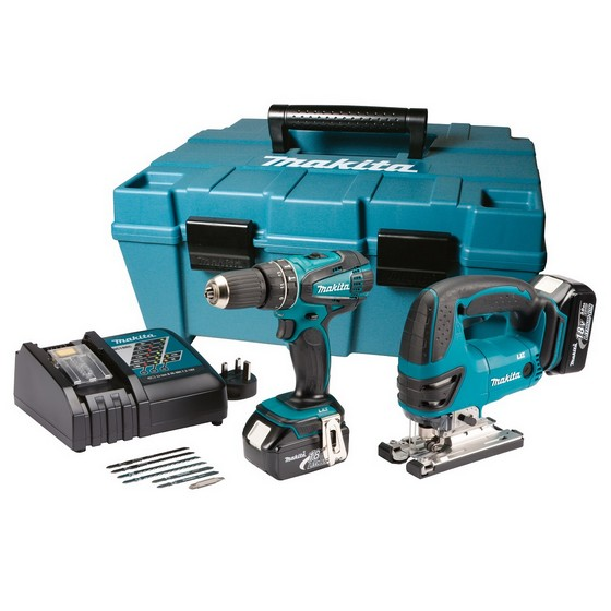 makita dk1893 18v combi hammer drill jigsaw twin pack 2. Black Bedroom Furniture Sets. Home Design Ideas