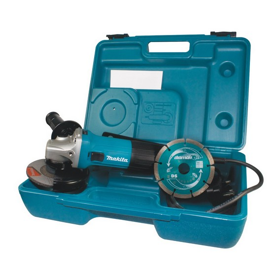 Image of MAKITA GA4530KD 115MM ANGLE GRINDER 110V INCLUDES DIAMOND DISC