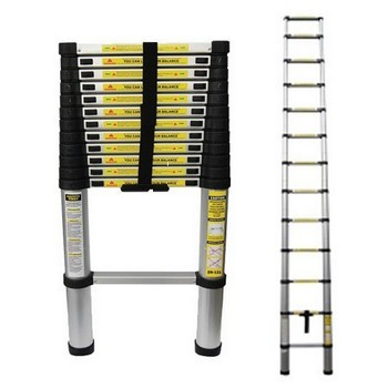 FORGEFIX 3.75M TELESCOPIC LADDER (CONFORMS TO BS EN131)