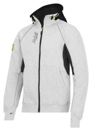 SNICKERS 28161804006 ZIPPED LOGO HOODIE GREY/BLACK LARGE