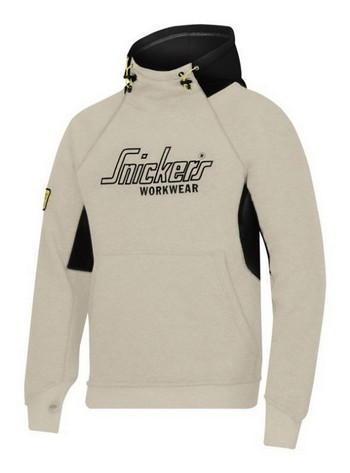 Image of SNICKERS 28151804006 LOGO HOODIE LARGE GREYBLACK