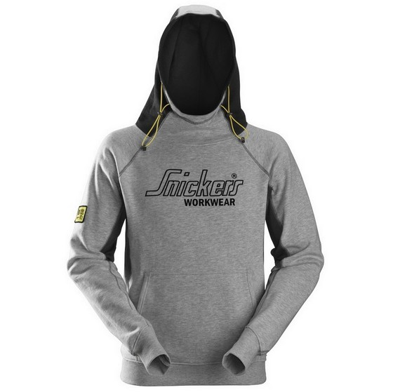 Image of Snickers 28151804005 Logo Hoodie Blackgrey Medium