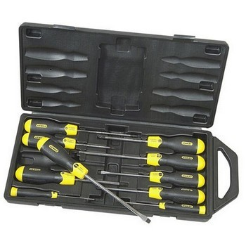 STANLEY STA265014 10 PIECE CUSHION GRIP SCREWDRIVER SET