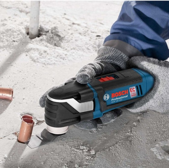 BOSCH GOP18VEC 18V BRUSHLESS MULTI-TOOL WITH 1X 4.0AH LI-ION BATTERY AND 20 ACCESSORIES