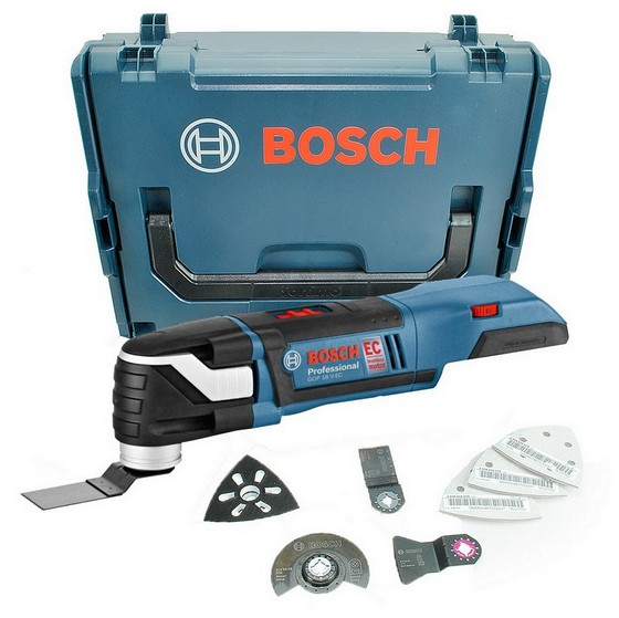 BOSCH GOP18VEC-N 18V BRUSHLESS MULTI-TOOL WITH ACCESSORIES (BODY ONLY) SUPPLIED IN L-BOXX