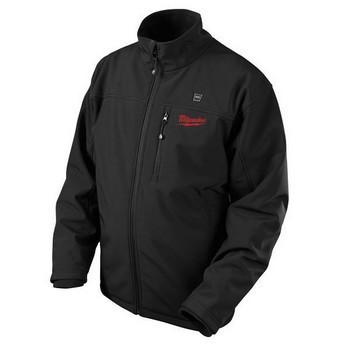 MILWAUKEE M12HJ-0 BLACK HEATED JACKET 1 x BATTERY & CHARGER (Large)