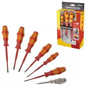 Wera WER006480 7 Piece Kraftform Plus VDE Slimline Screwdriver Set