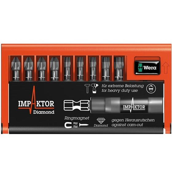 Wera WER057683 9 Piece Impaktor Bit-Check Pozi/Torx Screwdriver Set