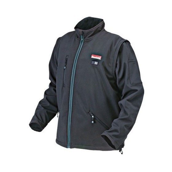 Image of MAKITA DCJ200ZL 18V HEATED JACKET BARE UNIT LARGE