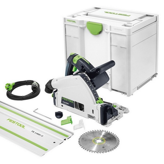Image of FESTOOL 561554 TS55REQ 160MM PLUNGE SAW 110V WITH 14M GUIDE RAIL