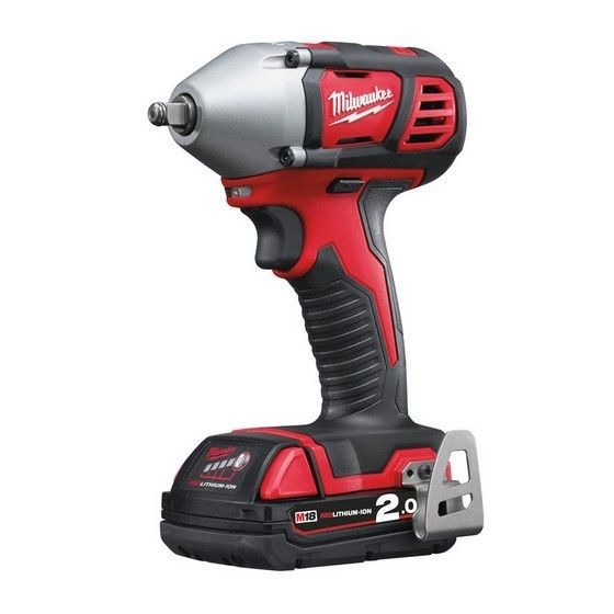 Image of MILWAUKEE M18BIW38202C M18 18V COMPACT IMPACT WRENCH 38 INCH WITH 2X20AH RED LIION BATTERIES