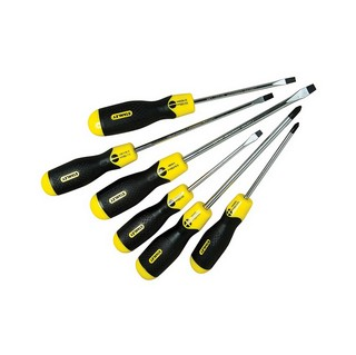 STANLEY STA598001 6 PIECE ASSORTED CUSHION GRIP SCREWDRIVER SET