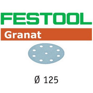 FESTOOL 497168 PACK OF 100 GRANAT SANDING SHEETS P-100 125MM