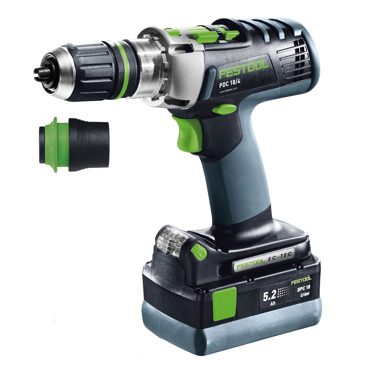 FESTOOL 769194 QUADRIVE PDC 18/4 LI 4.2 PLUS GB 18V COMBI HAMMER DRILL WITH 2X 4.2AH LI-ION BATTERIES