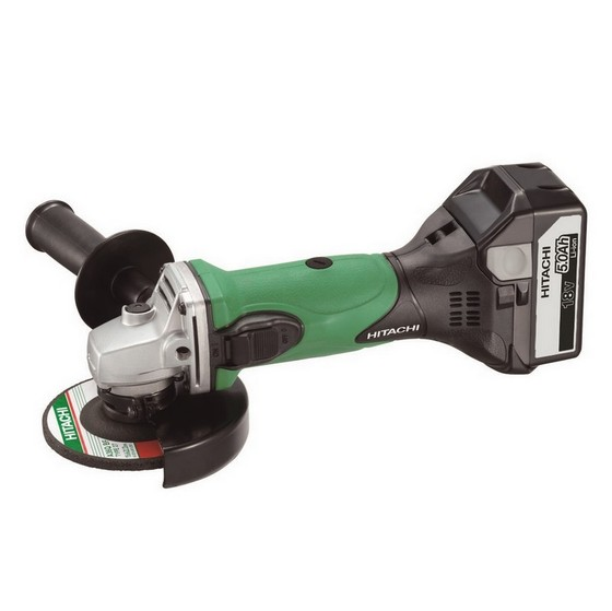 Image of HITACHI G18DSLJJ 18V ANGLE GRINDER 115MM 2 X 50AH LIION BATTERIES