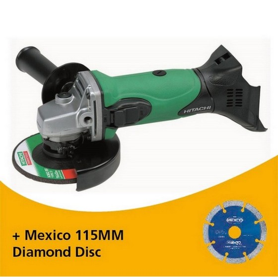 Image of HITACHI G18DSLL4 18V ANGLE GRINDER 115MM BODY ONLY
