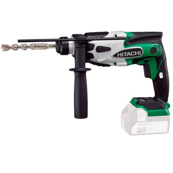 HITACHI DH18DSL/L4 18V SDS DRILL + CHUCK, ADAPTOR & SDS SET