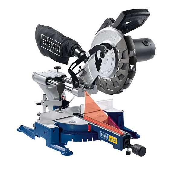 SCHEPPACH KGZ 251 254 mm UNIVERSAL SLIDING COMPOUND MITRE SAW 240V