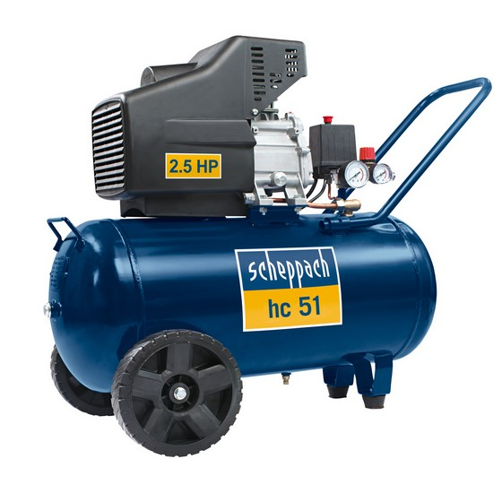 SCHEPPACH HC 51 HEAVY DUTY 2.5HP x 50 LITRE WORKSHOP COMPRESSOR 240V
