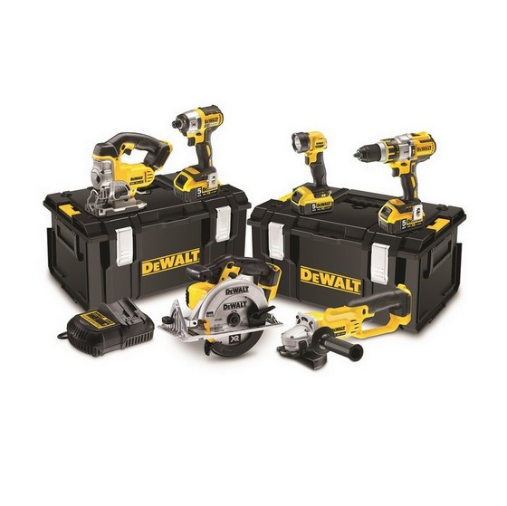 DEWALT DCK694M3 18V 6 PIECE KIT WITH 3X 4.0AH LI-ION BATTERIES