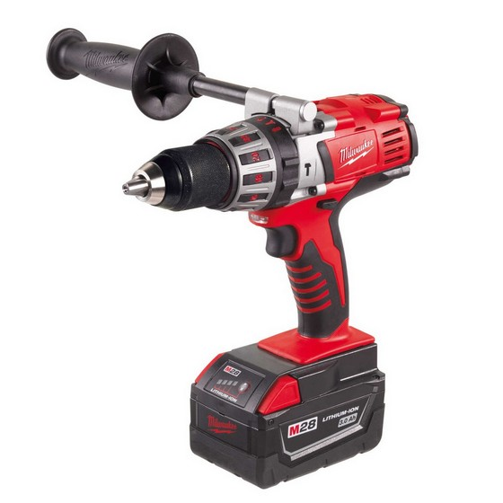 MILWAUKEE HD28PD-32C 28V COMBI HAMMER DRILL WITH 2X 3.0AH LI-ION BATTERIES
