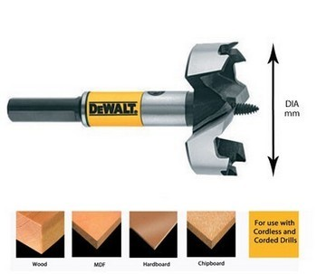 Dewalt DT4580-QZ Self Feed Drill Bit 41mm Diameter