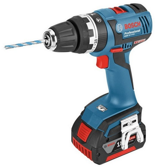 BOSCH GSB18V-EC 18V BRUSHLESS 18V COMBI HAMMER DRILL 2X 4.0AH LI-ION BATTERIES