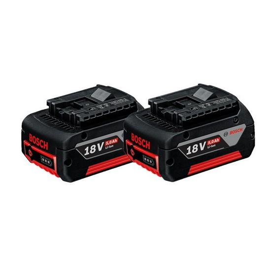 Image of BOSCH 18V 2X50AH LIION BATTERIES & CHARGER