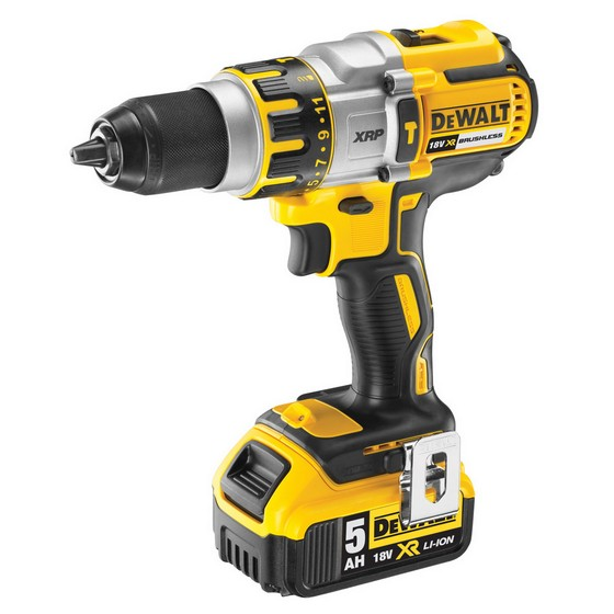 DEWALT DCD995P2 18V BRUSHLESS 3 SPEED COMBI HAMMER DRILL 2X 5.0AH LI-ION BATTERIES