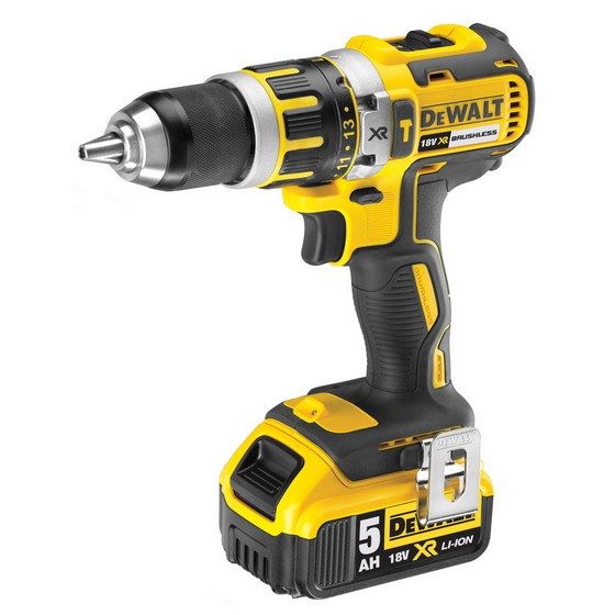 Dewalt DCD795P2 18V BRUSHLESS 2 SPEED COMBI HAMMER DRILL 2X 5.0AH LI-ION BATTERIES