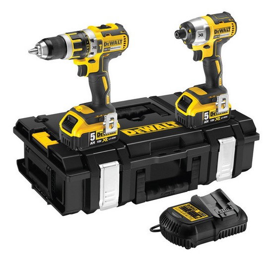 DEWALT DCK250P2 18V BRUSHLESS TWIN PACK WITH 2X 5.0AH LI-ION BATTERIES