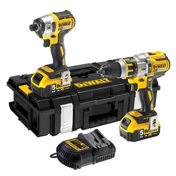 Dewalt Dck285c2 18v Xr Combi Drill And Impact Driver