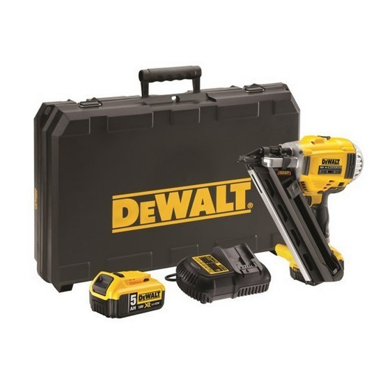 Image of Dewalt Dcn692p2 18v 1st Fix Nailer 2x 50ah Liion Batteries