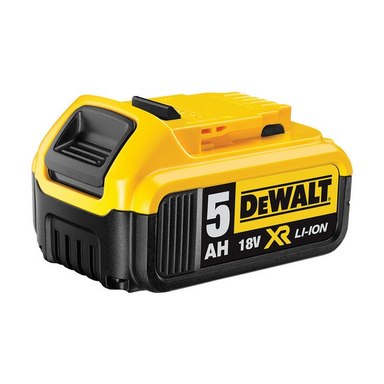 Image of DEWALT DCB184 18V 50AH XR LITHIUM ION BATTERY PACK WITH CHARGE INDICATOR