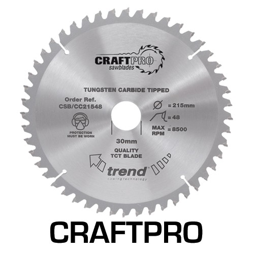 Image of TREND CSBCC21624 CRAFT BLADE CC 216MM X 24T X 30MM