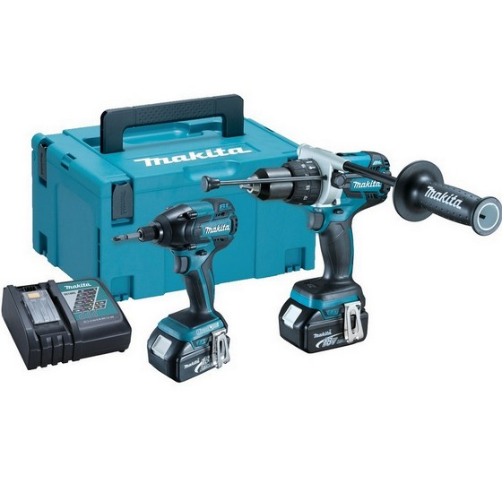 MAKITA DLX2040TJ 18V HEAVY DUTY BRUSHLESS TWIN PACK 2 X 5.0ah Li-ion BATTERIES