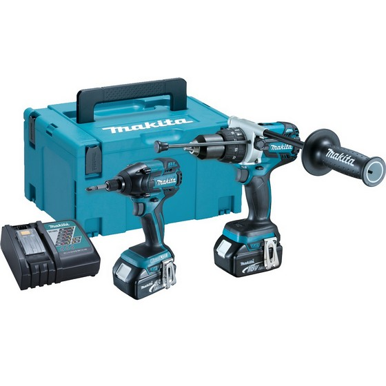 makita dlx2005mbj 18v twin pack special black edition with 2x li ion batteries and 216. Black Bedroom Furniture Sets. Home Design Ideas