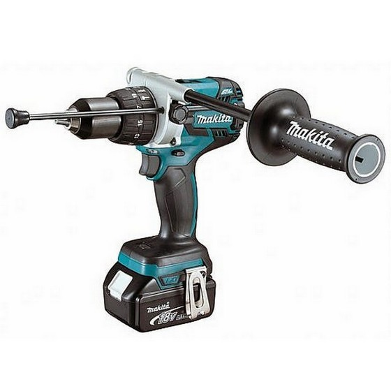 MAKITA DHP481RTJ 18V HEAVY DUTY BRUSHLESS COMBI HAMMER DRILL 2 X 5.0ah Li-ion BATTERIES