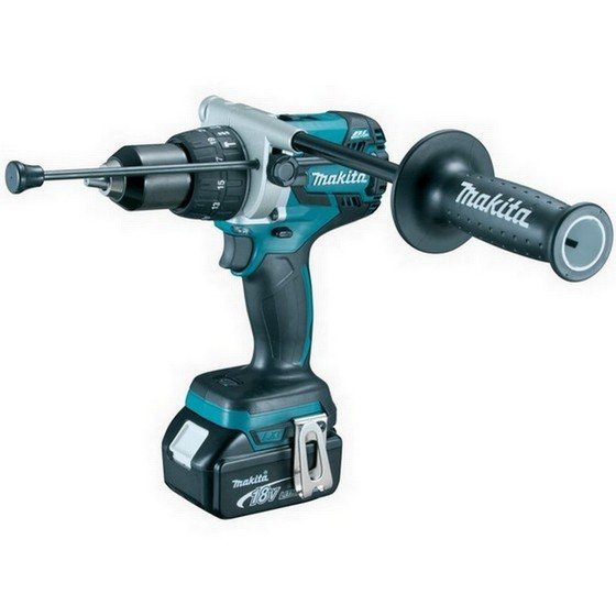 Image of MAKITA DHP481RFJ 18V HEAVY DUTY BRUSHLESS COMBI HAMMER DRILL 2 X 30AH LIION BATTERIES SUPPLIED IN MAKPAC CASE
